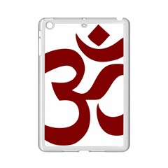Hindu Om Symbol (dark Red) Ipad Mini 2 Enamel Coated Cases by abbeyz71