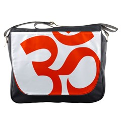 Hindu Om Symbol (orange) Messenger Bags by abbeyz71