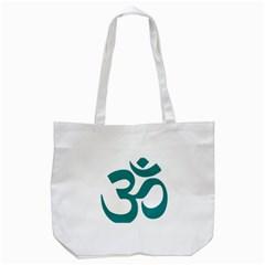 Hindu Om Symbol (teal)  Tote Bag (white) by abbeyz71