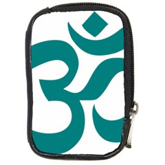 Hindu Om Symbol (teal) Compact Camera Cases by abbeyz71