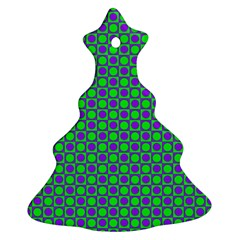 Friendly Retro Pattern A Christmas Tree Ornament (two Sides) by MoreColorsinLife