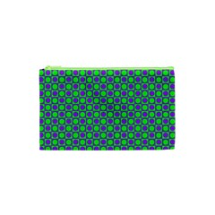 Friendly Retro Pattern A Cosmetic Bag (xs) by MoreColorsinLife