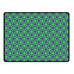 Friendly Retro Pattern A Fleece Blanket (small) by MoreColorsinLife