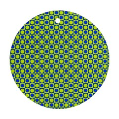 Friendly Retro Pattern C Ornament (round) by MoreColorsinLife