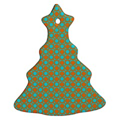 Friendly Retro Pattern D Christmas Tree Ornament (two Sides) by MoreColorsinLife