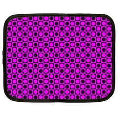 Friendly Retro Pattern G Netbook Case (large) by MoreColorsinLife