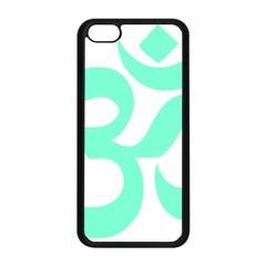 Hindu Om Symbol (cyan Blue) Apple Iphone 5c Seamless Case (black) by abbeyz71