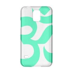 Hindu Om Symbol (cyan Blue) Samsung Galaxy S5 Hardshell Case  by abbeyz71