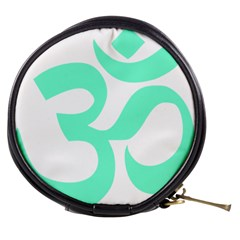 Hindu Om Symbol (cyan Blue) Mini Makeup Bags by abbeyz71