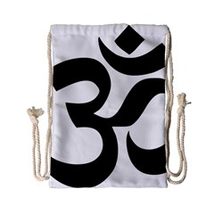 Hindu Om Symbol  Drawstring Bag (small) by abbeyz71