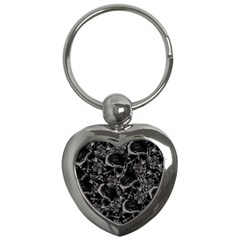 Skulls Pattern Key Chains (heart)  by ValentinaDesign