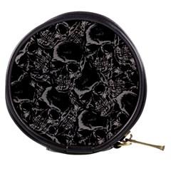 Skulls Pattern Mini Makeup Bags by ValentinaDesign