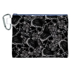 Skulls Pattern Canvas Cosmetic Bag (xxl) by ValentinaDesign