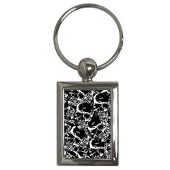 Skulls Pattern Key Chains (rectangle)  by ValentinaDesign
