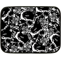 Skulls Pattern Double Sided Fleece Blanket (mini)  by ValentinaDesign