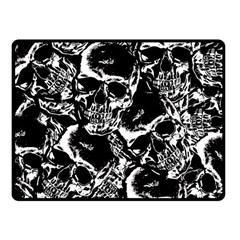 Skulls Pattern Fleece Blanket (small) by ValentinaDesign