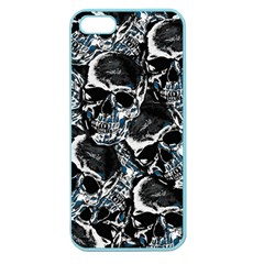 Skulls Pattern Apple Seamless Iphone 5 Case (color) by ValentinaDesign