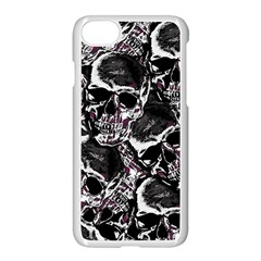 Skulls Pattern Apple Iphone 7 Seamless Case (white) by ValentinaDesign
