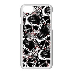 Skull Pattern Apple Iphone 7 Seamless Case (white) by ValentinaDesign