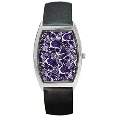 Skull Pattern Barrel Style Metal Watch by ValentinaDesign
