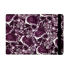 Skull Pattern Apple Ipad Mini Flip Case by ValentinaDesign