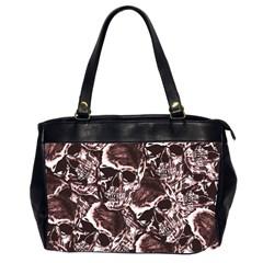 Skull Pattern Office Handbags (2 Sides)  by ValentinaDesign