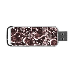 Skull Pattern Portable Usb Flash (one Side) by ValentinaDesign