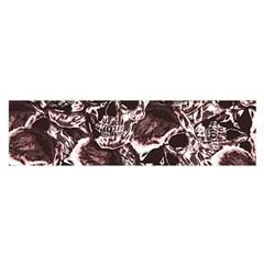 Skull Pattern Satin Scarf (oblong) by ValentinaDesign