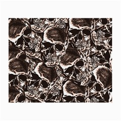 Skull Pattern Small Glasses Cloth (2 Side) by ValentinaDesign