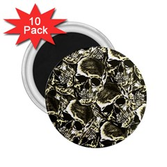 Skull Pattern 2 25  Magnets (10 Pack)  by ValentinaDesign
