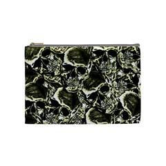 Skull Pattern Cosmetic Bag (medium)  by ValentinaDesign