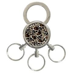 Skull Pattern 3 Ring Key Chains by ValentinaDesign