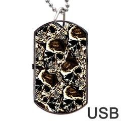 Skull Pattern Dog Tag Usb Flash (one Side) by ValentinaDesign