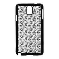 Floral Pattern Samsung Galaxy Note 3 Neo Hardshell Case (black) by ValentinaDesign