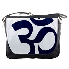 Hindu Om Symbol (dark Blue) Messenger Bags by abbeyz71