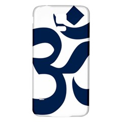 Hindu Om Symbol (dark Blue) Samsung Galaxy S5 Back Case (white) by abbeyz71