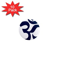 Hindu Om Symbol (dark Blue) 1  Mini Magnet (10 Pack)  by abbeyz71