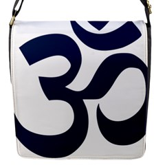Hindu Om Symbol (dark Blue) Flap Messenger Bag (s) by abbeyz71