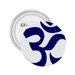Om Symbol (midnight Blue) 2 25  Buttons by abbeyz71