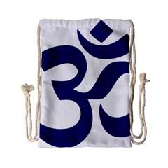 Om Symbol (midnight Blue) Drawstring Bag (small) by abbeyz71