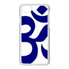 Om Symbol (navy Blue) Apple Iphone 7 Seamless Case (white) by abbeyz71