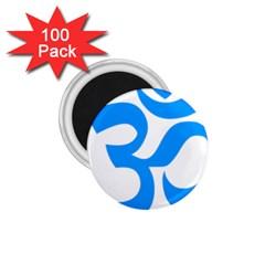 Hindu Om Symbol (ocean Blue) 1 75  Magnets (100 Pack)  by abbeyz71