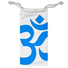 Hindu Om Symbol (ocean Blue) Jewelry Bag by abbeyz71
