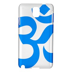 Hindu Om Symbol (ocean Blue) Samsung Galaxy Note 3 N9005 Hardshell Case by abbeyz71