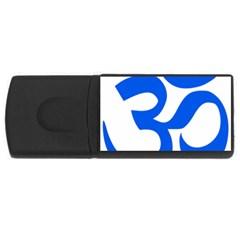 Hindu Om Symbol (blue) Usb Flash Drive Rectangular (4 Gb) by abbeyz71