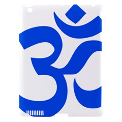Hindu Om Symbol (blue) Apple Ipad 3/4 Hardshell Case (compatible With Smart Cover) by abbeyz71