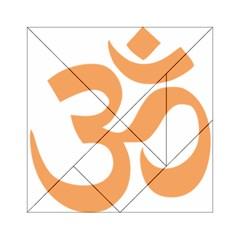 Hindu Om Symbol (sandy Brown) Acrylic Tangram Puzzle (6  X 6 ) by abbeyz71