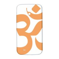Hindu Om Symbol (sandy Brown) Samsung Galaxy S4 I9500/i9505  Hardshell Back Case by abbeyz71