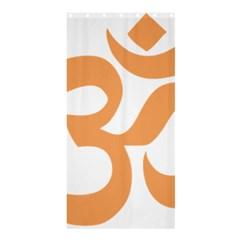 Hindu Om Symbol (sandy Brown) Shower Curtain 36  X 72  (stall)  by abbeyz71