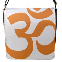 Hindu Om Symbol (sandy Brown) Flap Messenger Bag (s) by abbeyz71
